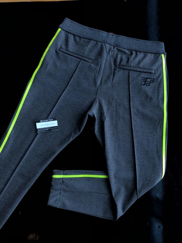 Sweatpants High Quality Streetwear Pantalones Hombre Men Clothes  Joggers Gray With Green Strip Men Clothes