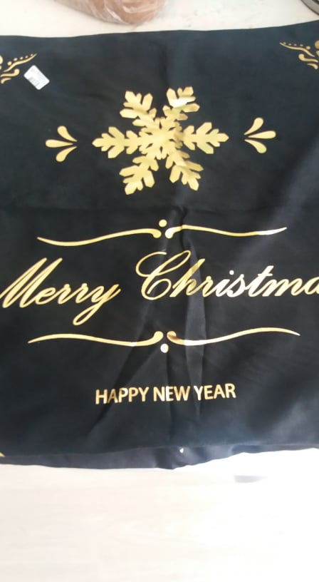 Cotton Linen Merry Christmas Cover photo review