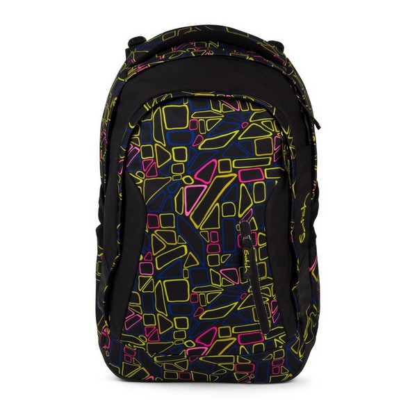 Школьная сумка Eco Ergobag SAT MAT 001 9K5 черная Выдвижная (30X22x45 см) Школьные ранцы      АлиЭкспресс