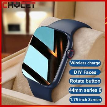 CHYCET Original IWO Smart Watch Men Series6 Wireless Charging 1.75 Inch Smartwatch Women Dial Call DIY Faces PK W66 HW22 T500 1