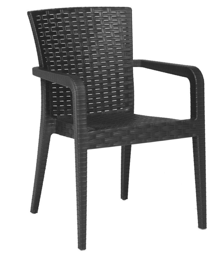 Armchair JAZMIN, Stackable, Polypropylene Anthracite