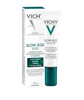 vichy olhos de idade lenta 15ml creme contendo spf protegido probiotico que retarda os sinais