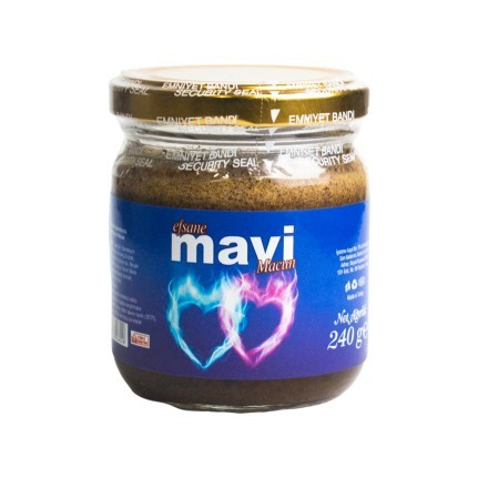 Efsane Mavi Epimedium Turkish Honey Mix Macun Paste – Horny Goat Weed Gindseng Cinnamon  Aphrodisiac Turkish Paste, 240gr, Halal 4