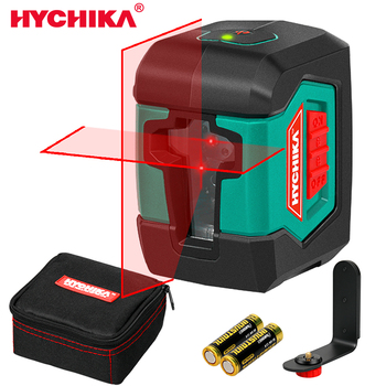 HYCHIKA Laser Level Mini 2 Lines 3D Self-Leveling Vertical and Horizontal Line green red Laser with Measuring Range 15m firecore mini 2 line red laser level 1v1h horizontal and vertical cross laser line self leveling 3 degrees measuring tool