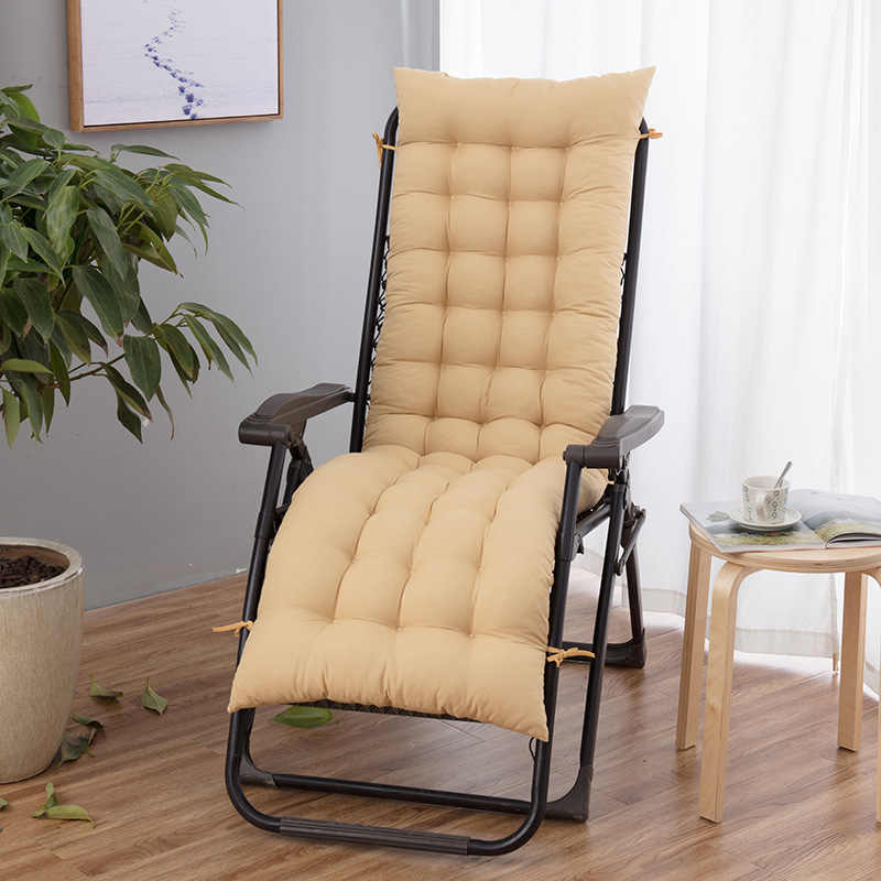 Düz renk uzun sallanan Recliner yastık Mat açık bahçe Veranda masa geri rahatlatıcı Pad Lounge koltuk koltuk minderi yok sandalye