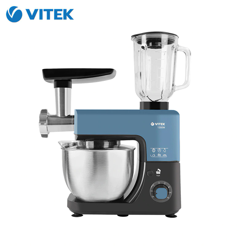 Kitchen machine VITEK VT 1439 food processor mixer with bowl stand meat grinder blender dough|Food Processors| |  - title=