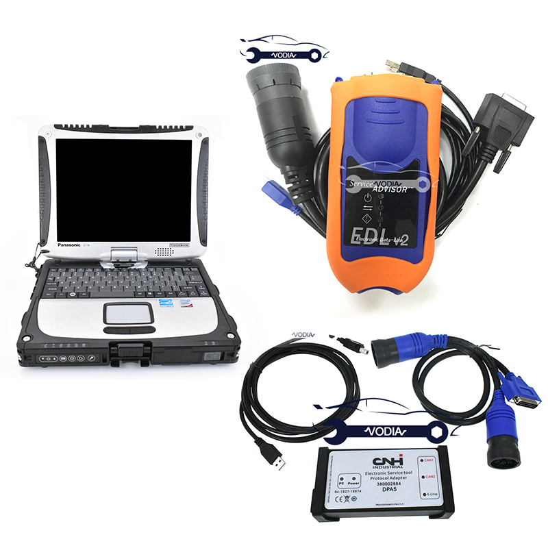 Vodia CNH EST Diagnostic Kit With EDL V2 For New Holland Case Service Advisor Agriculture Tractor Construction Diagnosis Tool