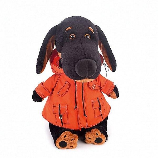 Soft Toy Budi Basa Dog Ваксон In Orange Windbreaker, 25 Cm MTpromo