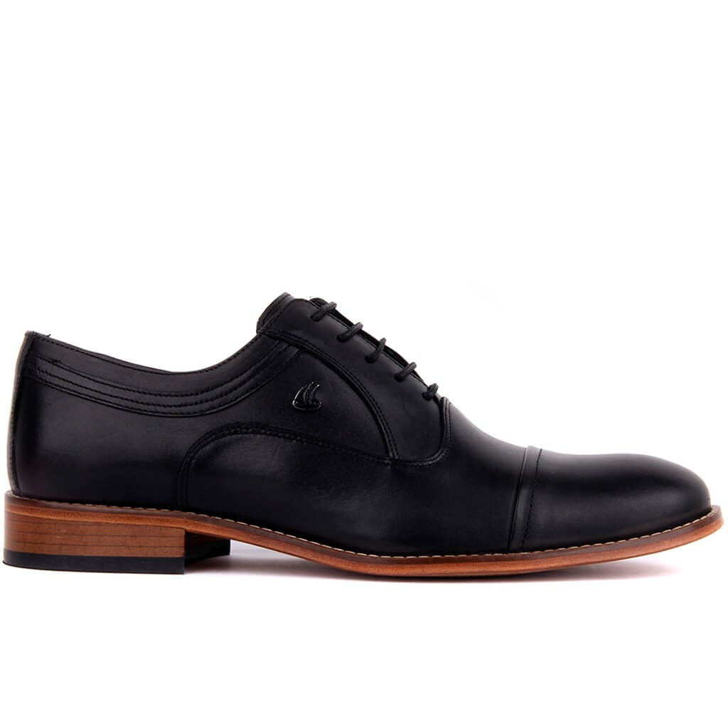 Sail-Lakers Black Genuine Leather Sole Classic Men 'S Shoes
