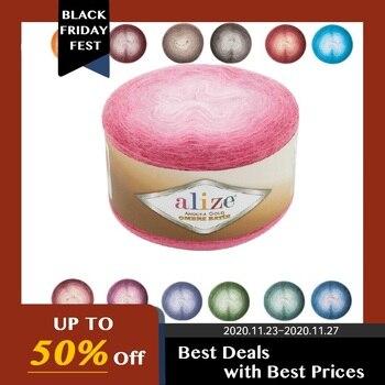 Alize Angora-hilo dorado para pastel, ombré, 150gr-825mt % 20 lana-% 80 acrílico,...