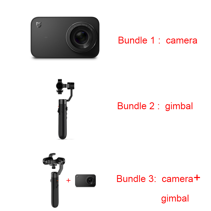 Image 2 - Mi 4K 30fps Action Camera+Handheld Gimbal Original Mijia 3axis Brushless Gimbal Stabilizer handheld gimbals Sports Camera-in Aerial Gimbal from Consumer Electronics