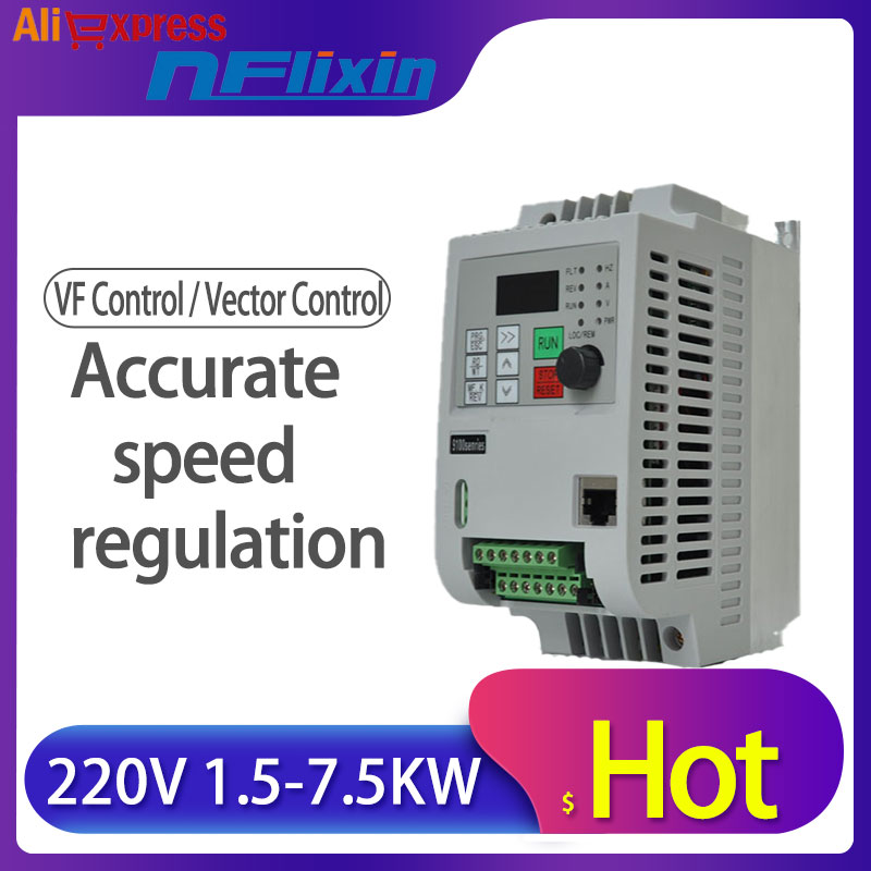 <font><b>VFD</b></font> Frequency Converter Frequency <font><b>Inverter</b></font> 0.75 1.5 <font><b>2.2kw</b></font> 220V Single Phase 380V 3 Phase Input image