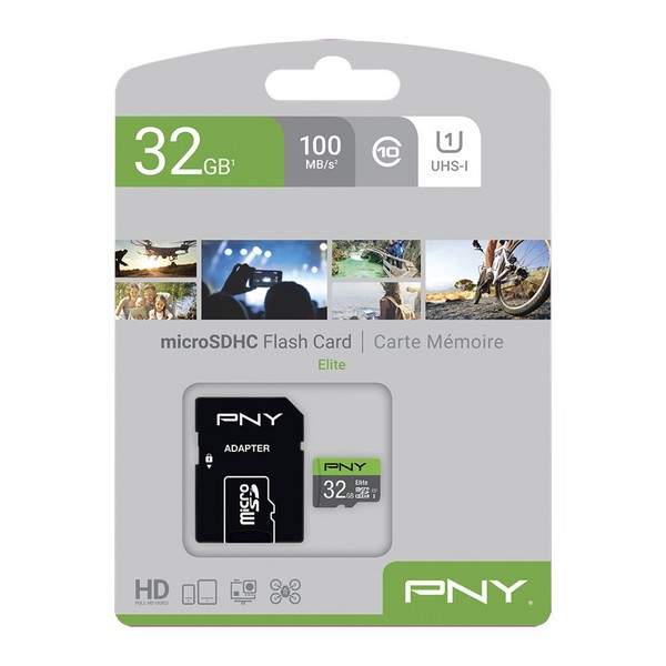 SDHC Memory Card PNY Elite 32 GB Black