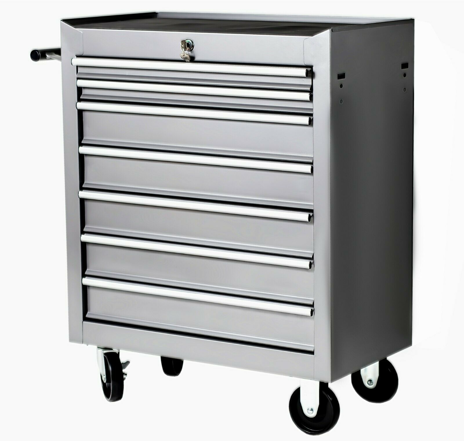 Tool cart workshop mobile mechanical garage with wheels 7 drawers guarantee-3
