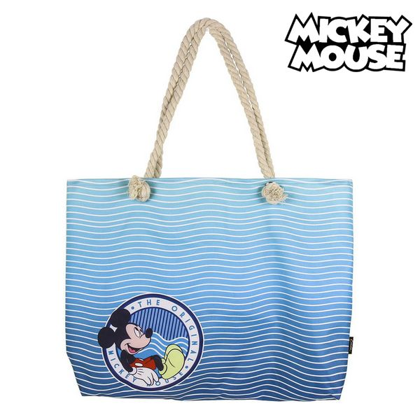 Beach Bag Mickey Mouse 72926 Navy Blue Cotton