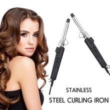Mini Curling Iron Wand Pro Electric Hair Curler Temperature Stainless Steel Hair Wave Curl Curling Hairdressing Styling Tools ushow electric pro hair curler rollers ceramic salon curling iron wave wand hair styling tools