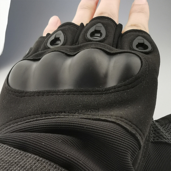 Tactical Hard Knuckle Half finger Gloves Men's Army Military Combat Hunting Shooting Airsoft Paintball Police Duty - Fingerless 2