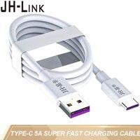 JH-LINK tipo-C 5A de alta corriente de cable de datos USB C de cable de carga rápida de transferencia de datos para Huawei honr opor 17/r17pro xiaomi meizu