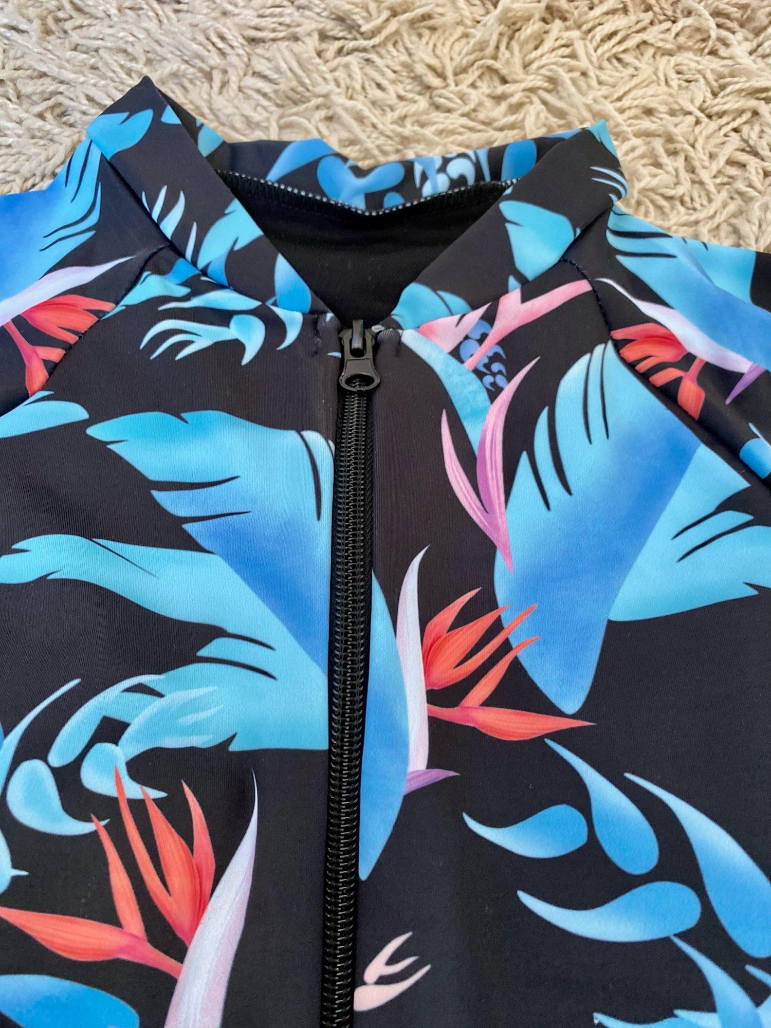 Print Floral One Piece Swimsuit Women Swimwear Monokini Long Sleeve Printed Female Bathing Suit Surfing Bodysuit Swim Wear Beach|beach swimming|swimwear swimmingbeach wear - AliExpress