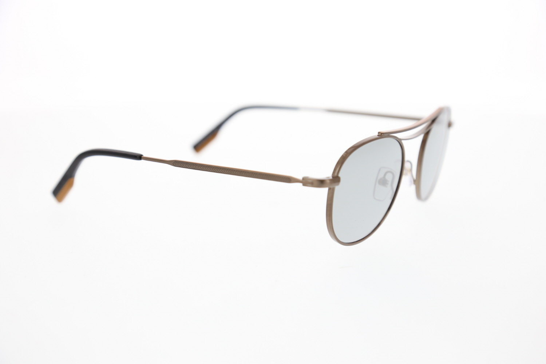 Unisex sunglasses ez 0104 35v metal brown crystal oval aval 50-21-145 ermenegildo zegna