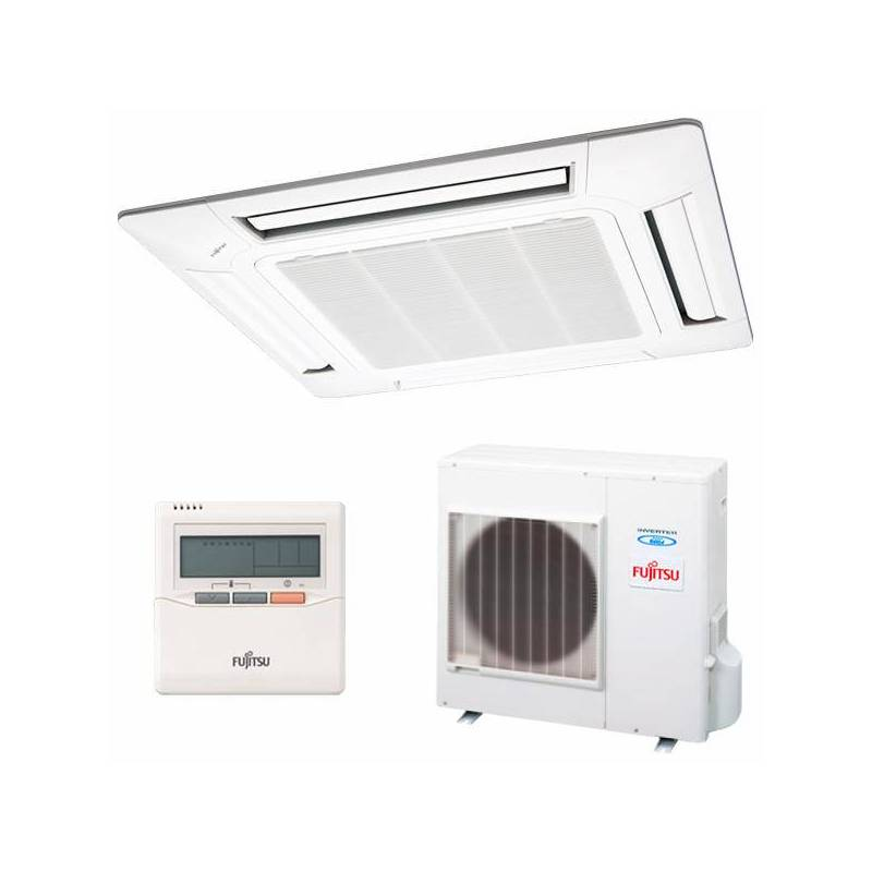 Air Conditioning Fujitsu AUY-100UIA Cassette Inverter To ++ 8600 Fg/h Cold + Cold White