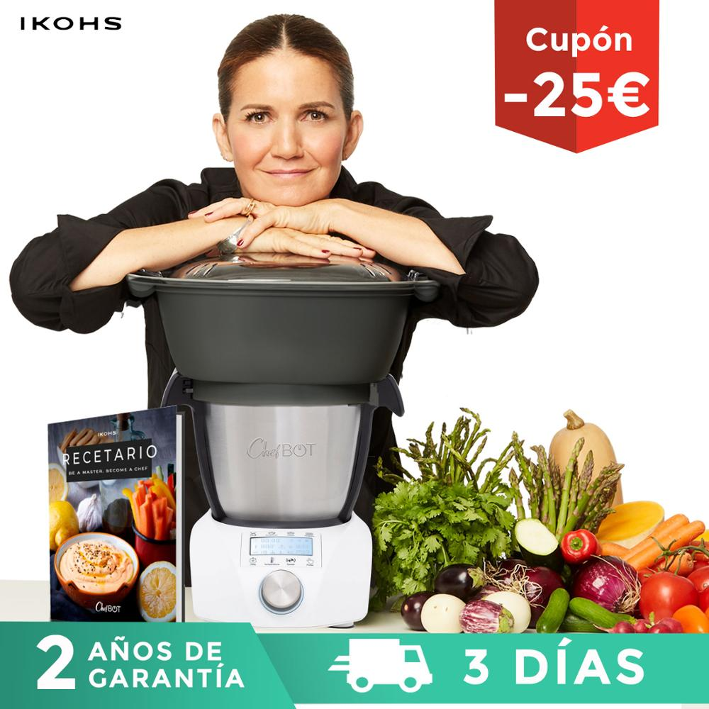 Food Processor Multifunction ChefBOT Compact STEAM PRO IKOHS 10 Speed Style Thermomix 100 1000W Timer Up 120 ° And Steamer Food Recipes