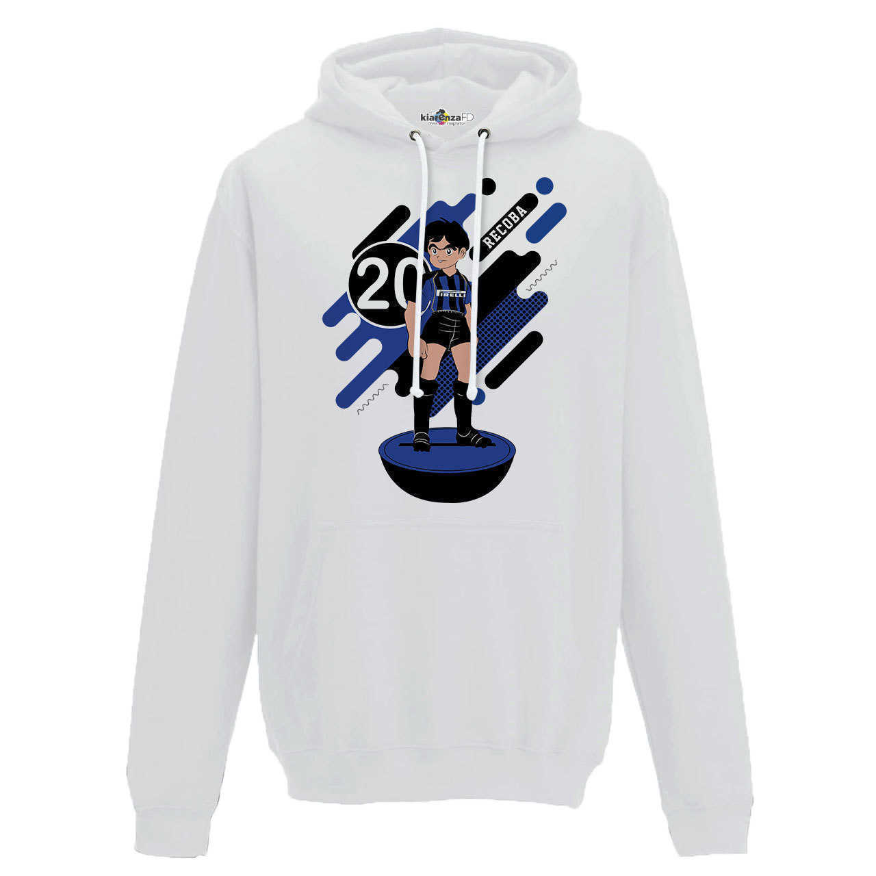 Hood Sweatshirt <font><b>Soccer</b></font> Manga Recoba <font><b>Inter</b></font> <font><b>Milan</b></font> Legend Spoof Subbuteo Holly and Benji S image