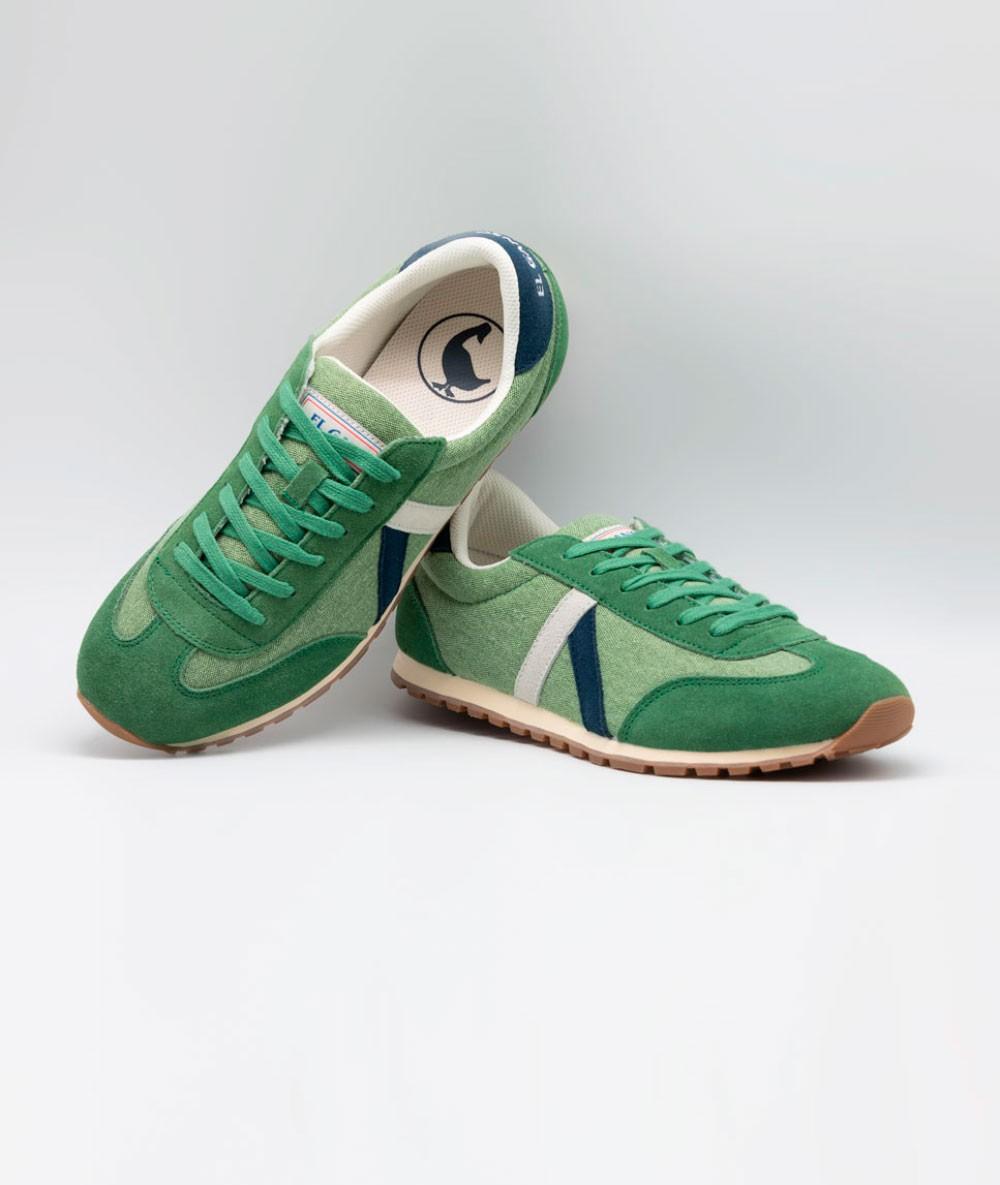 Zapatilla El Ganso® Running Washed Verde De Marca Originales Vintage de Hombre Caballero retro - 4