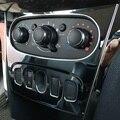 Хромированная накладка на консоль управления климатом отопителем кондиционером для Renault Logan II Sandero 2 Sandero Stepway 2014-2021