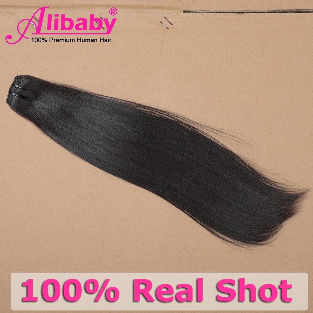 Alibaby Super Double Drawn  Bundles  Straight Virgin Hair  Bundles Natural Color Hair For Top Customer 6