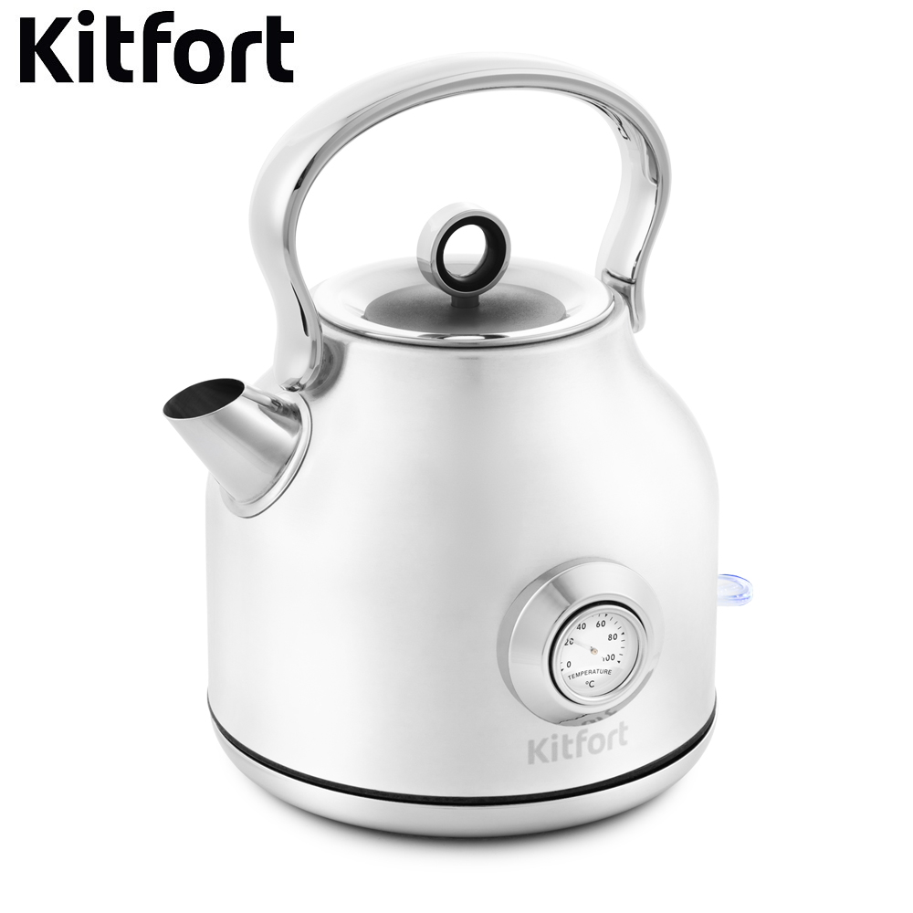 купить Electric kettle Kitfort КТ-673 Kettle Electric Electric kettles home kitchen appliances kettle make tea Thermo по цене 2825 рублей