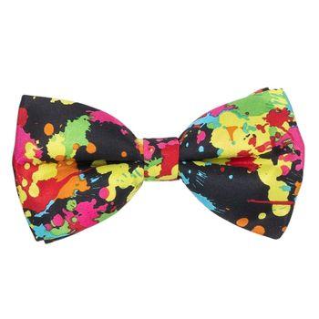 Men's bow tie (cotton, multi-colored, figure) 50313