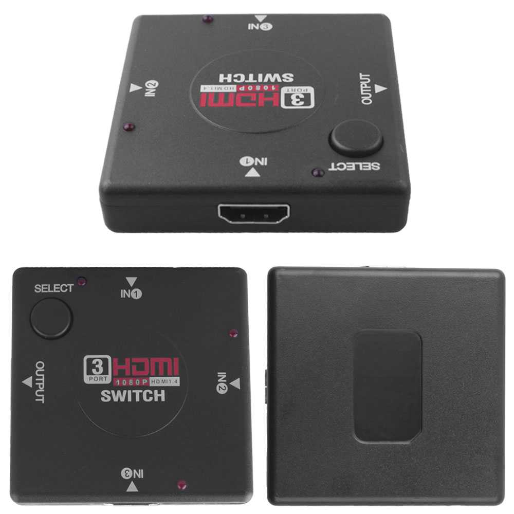 Hand Switch Multiport HDMI Ports 3 1080P Ladron Splitter For HDTV PS3 PS3
