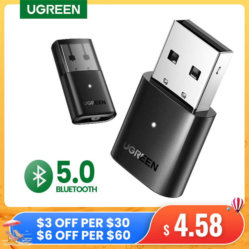 UGREEN USB Bluetooth 5.0 Dongle Adapter 4.0 for PC Speaker Wireless Mouse Music Audio Receiver Transmitter aptx Bluetooth 5.0