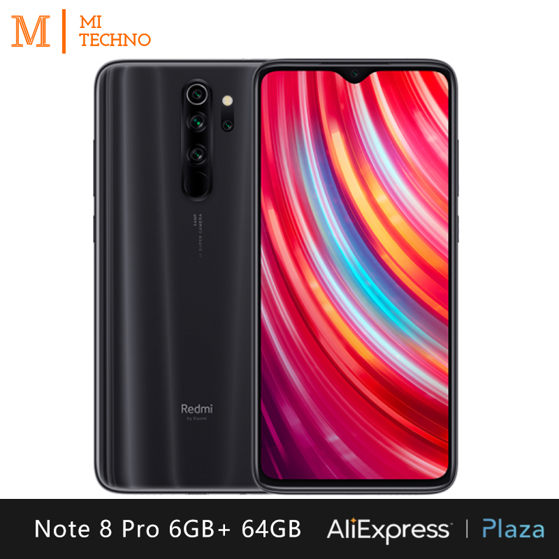 Xiaomi Redmi Note 8 Pro Smartphone (6GB RAM 64GB ROM Mobile Phone, Free, New, NFC, Quad Camera 64MP) [Global Version]
