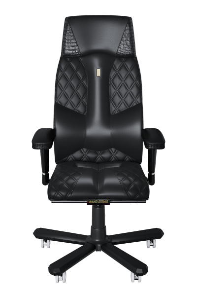 Office Chair KULIK SYSTEM CROCO Black Elite Ergonomic Chair High Quality Material New Technology Comfort