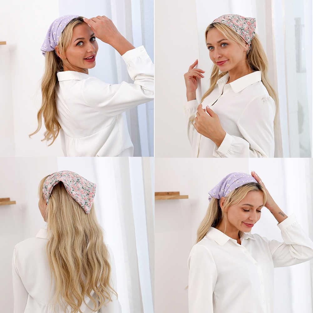 AWAYTR Stampe Triangolo Bandane Hairband Elastico Fasce Per Capelli Delle Donne Del Fiore Fasciatura Fascia Turbante Della Boemia Delle Ragazze Accessori Per Capelli