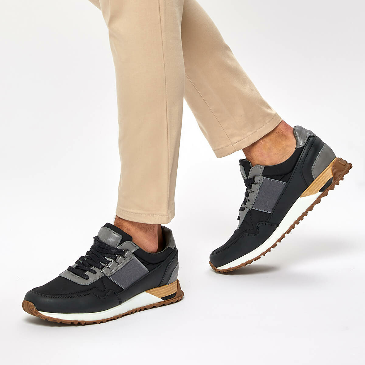 FLO FARGO Black Men 'S Sneaker Shoes LUMBERJACK