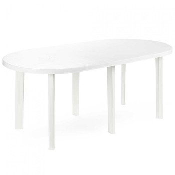 Resin table Tavolo White 181x90x72cm Landscraft.com