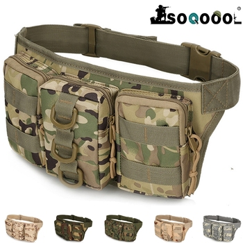 цена на Tactical Men Waist Pack Hiking Waist Bag Outdoor Army Military Hunting Sports Bags Climbing Camping Army Fan Tactical Package