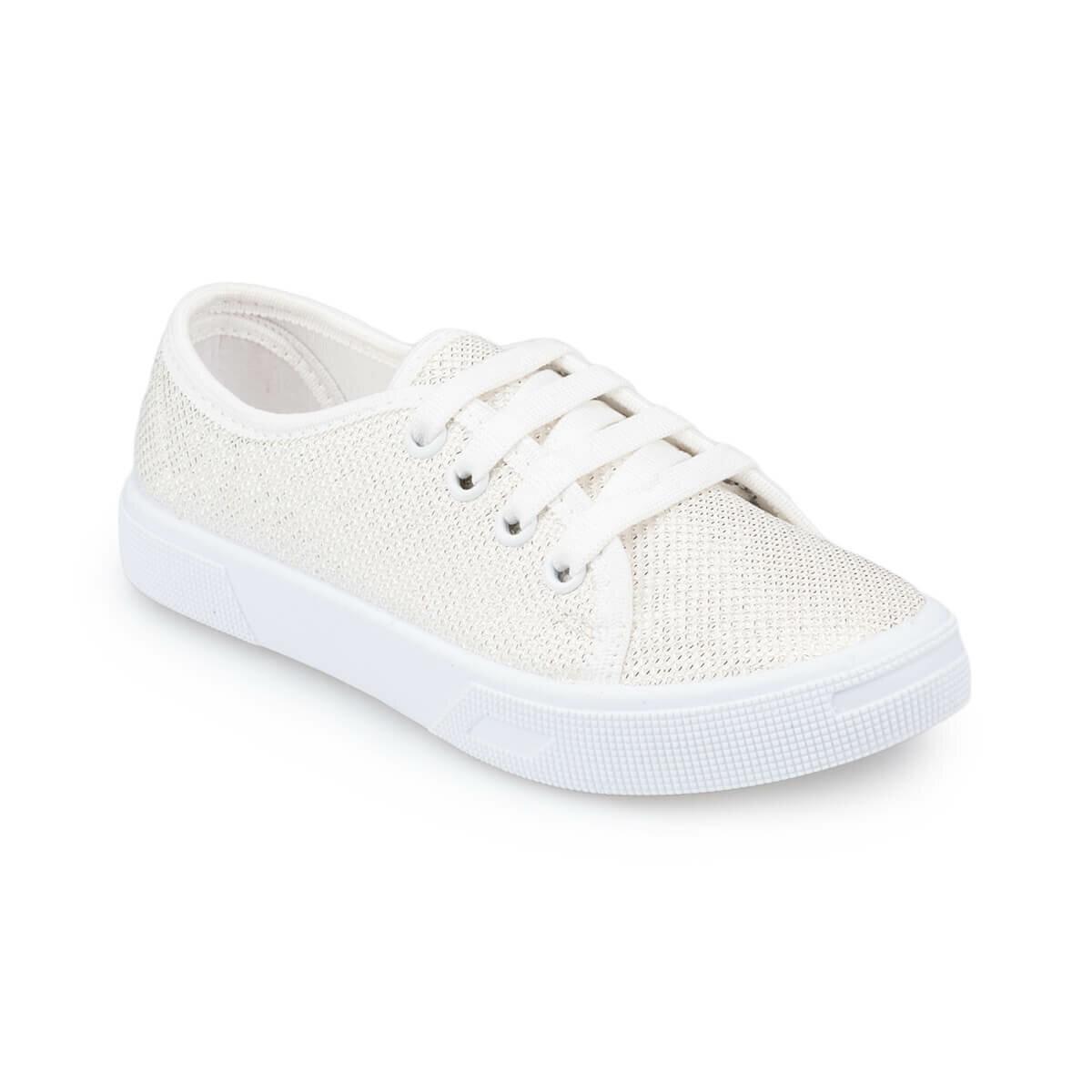 FLO 91.509151.F White Female Child Sneaker Shoes Polaris
