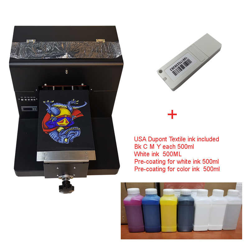A4 Ukuran Ekonomi Printer DTG Kaos Dengan Rip Software