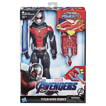 Avengers Hero toy play Titan Hero with Sounds fx Ant Man 30 cm Connects the Launcher Avengers Marvel collection tracks Hasbro E3310105