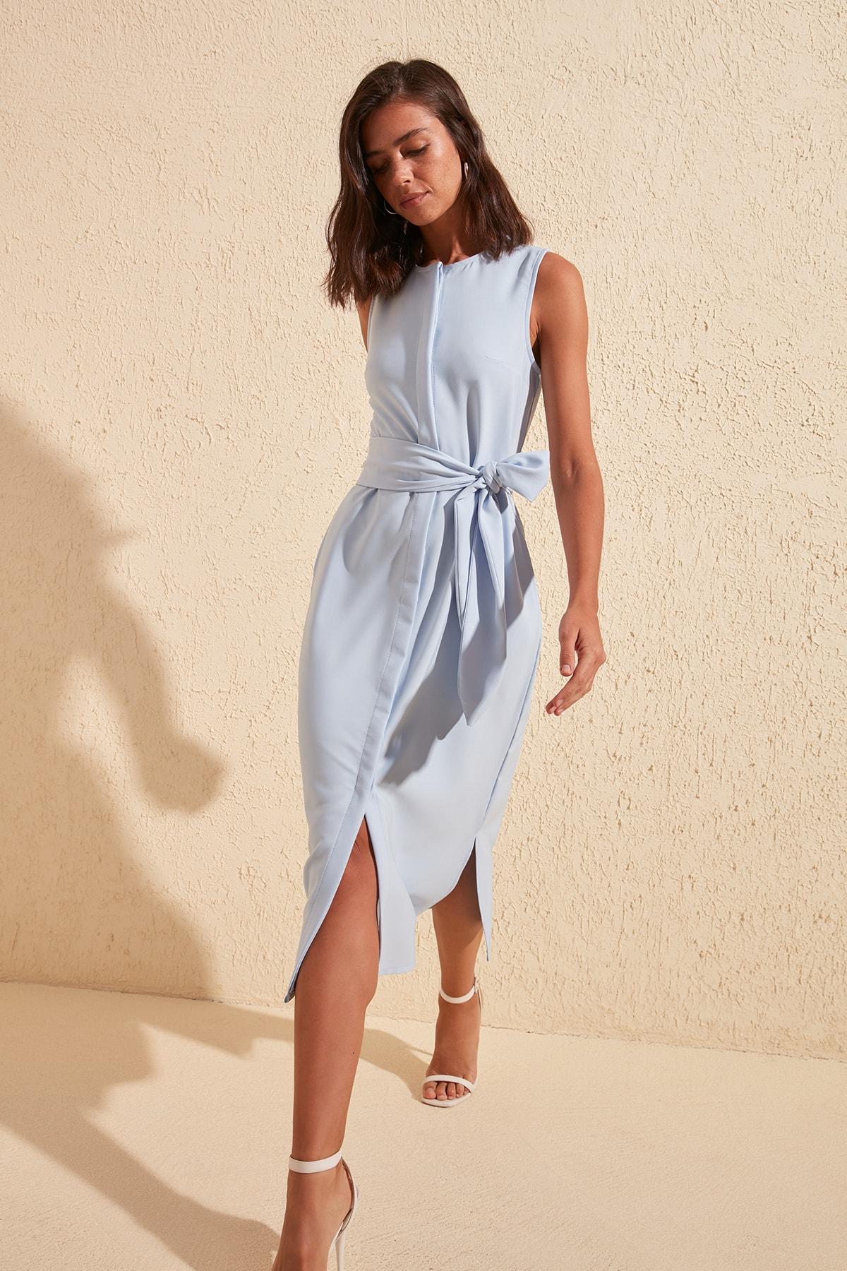 Trendyol Belted Button Dress TWOSS20EL1677