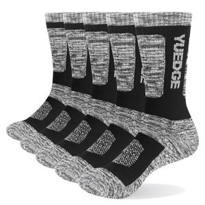 Image 2 - Носки YUEDGE мужские с хлопковой подушкой, повседневные толстые зимние теплые термоноски для мужчин, 5 пар