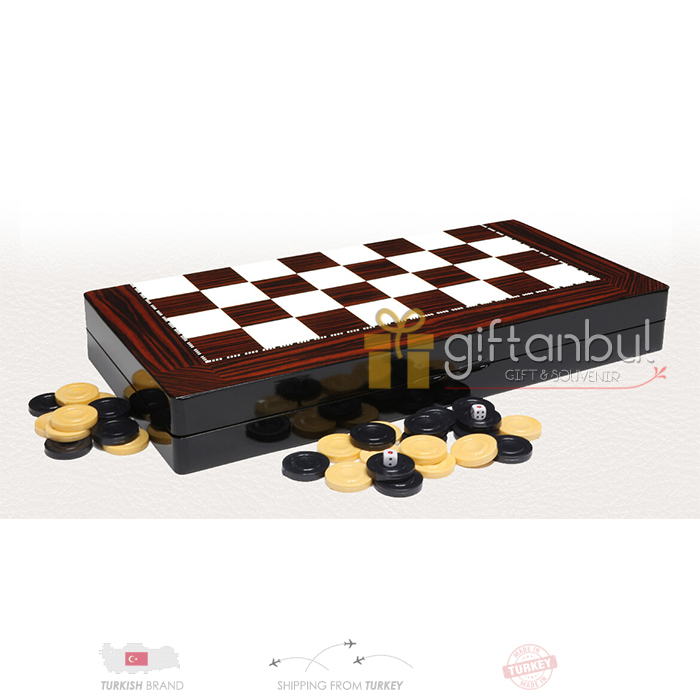 Wooden Backgammon Set Walnut Trendy Wooden Backgammon Set, Family Board Games, Leather Backgammon Sets