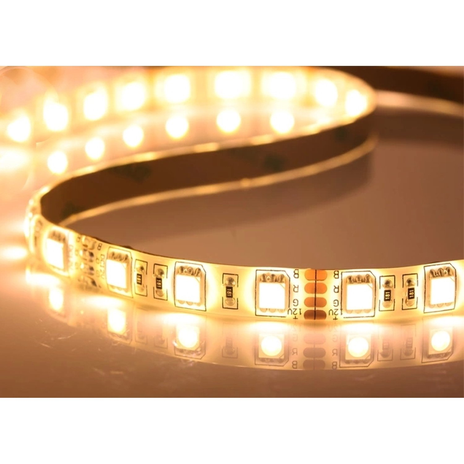 5 poke 60-LED 5050 SMD Waterproof White Bendable Light Strip Power Saving 3000k color kwb 5v usb led strip light 5050 smd waterproof with rgb controller