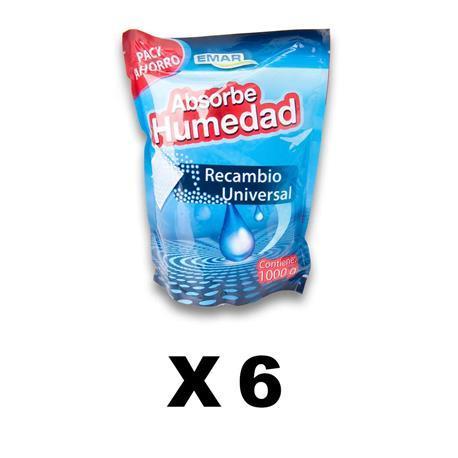 Paquet de 6 unités | Recharge 5630 unités, absorbe lhumidité 1000 Gr Vrac