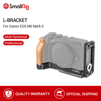 цена на SmallRig M6 Mark II L-Bracket With Wooden Handgrip for Canon EOS M6 Mark II Arca-Swiss Standard L Plate Mounting Plate- 2516