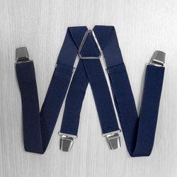 Подтяжки для брюк с усиленными клипсами (3.5 см, 4 клипсы, Синий) 54768